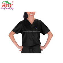 Crossover Neck Free Logo Clinique Uniform / Custom Salon Uniform