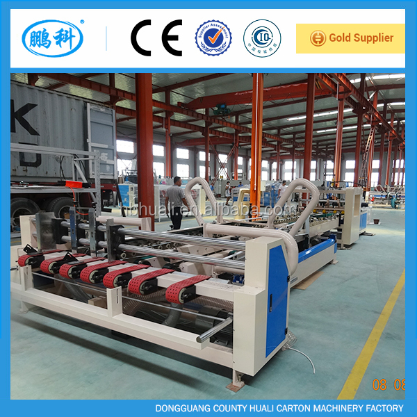 Automatic carton gluer machine/carton box folder gluer machine