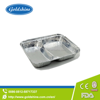 Christmas compartent aluminum foil pans for charcoal grill