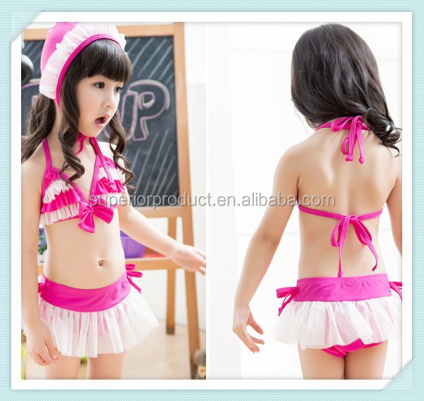 Baby Bikini set Girls Cute Two Pieces Swimsuit Kids Flouncing Swimwear bathing suit Beach swim wear