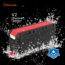 V2 Gsou audio bluetooth speaker,mobile speaker,bass speaker with SD/TF card slot and FM radio