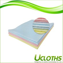Natural color flushable dry micrifiber cleaning cloths
