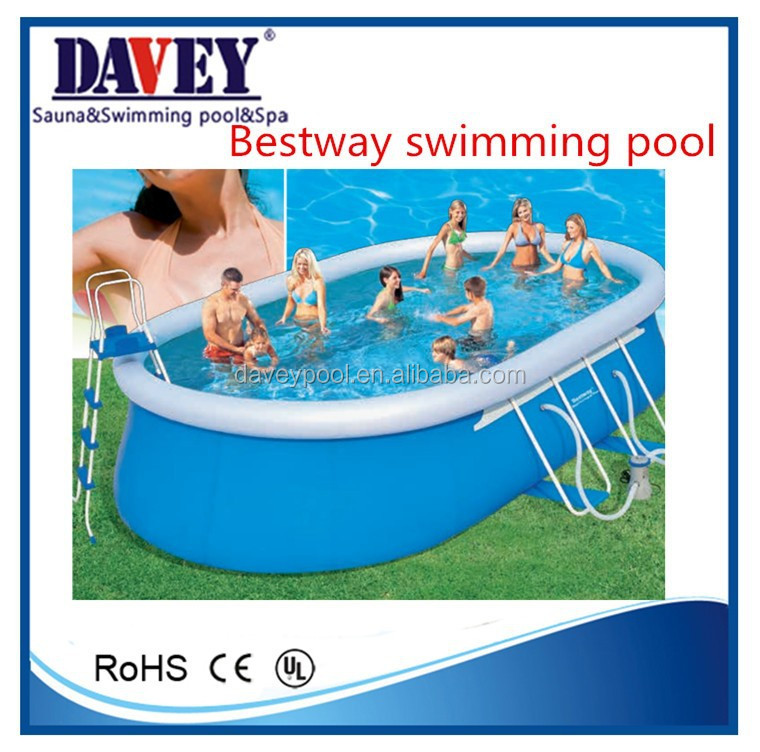 2015 bottom price wholesale outdoor rubber swimming pool