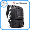 Laptop Backpack for SLR Camera and 14 Inch Laptops with Waterproof Rain Cover, Black