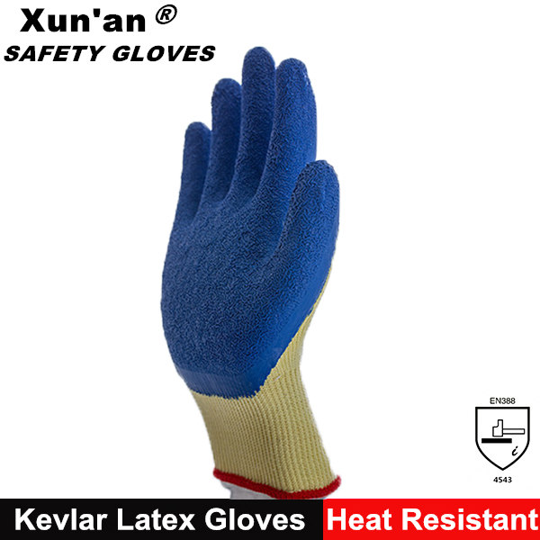 cotton lined latex rubber gloves for safety gardening work