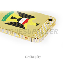 Iraq eagle design for iPhone 5s gold plated housings for iphone 5 middle frame