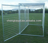 Galvanized dog panel kennel