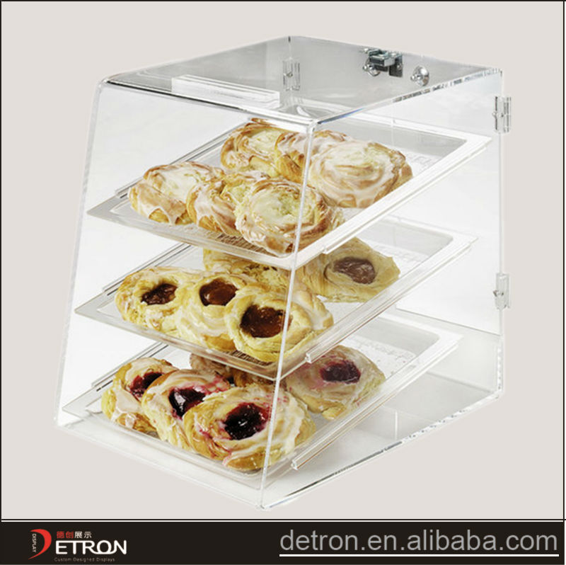 Hot sale Clear Affordable OEM bakery acrylic display case