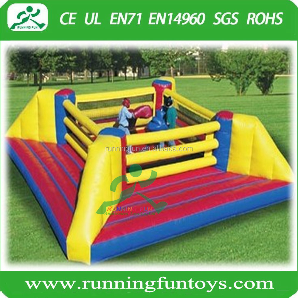 Outdoor inflatable Attractive Bouncy Inflatable Boxing Ring, inflatable wrestling ring