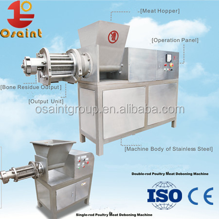 Mechanically bone meat separator equipment for turkey