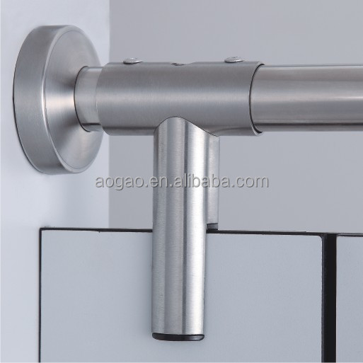 toilet cubicle stainless steel pipe clamp