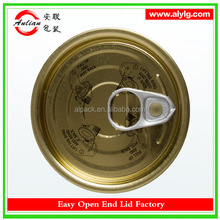 China Manufacture Newest Design Full Aperture Style Canned Tuna Easy Open Tin Cap 603#