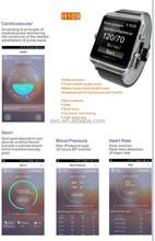 multiple color waterproof IP68 accurate blood pressure heart rate monitor wrist watch for healthcare center and hospital