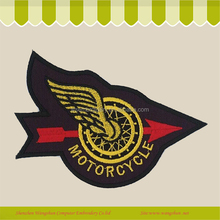 Professional Custom motorcycle design embroidery patch with iron on backing