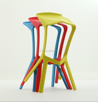 miura stackable colorful plastic SEDEX Approved barstool PP-129A