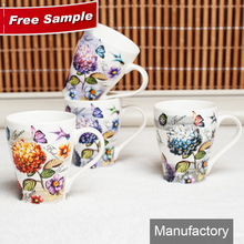 high quality thin porcelain decal printed fine new bone china coffee mug