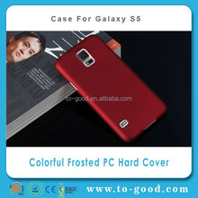 Fast Selling Products 2014 Mobile Phone Hard Back Covers For Samsung Galaxy S5 Case (Wine Red)