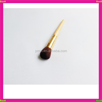 shimmer collar natural wood round shape blush brush for girl