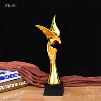 Cup Trophy Gold Plated Sports Award Cup Eagle Shaped Plastic Trophy