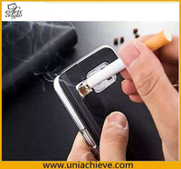 Fashion electroplate cigarette lighter case for Samsung galaxy s4 s5 note 2 3 4 hard pc lighter phone case