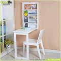 Functional Wall Mount Floating Folding Computer Desk For Home Office PC Table,white