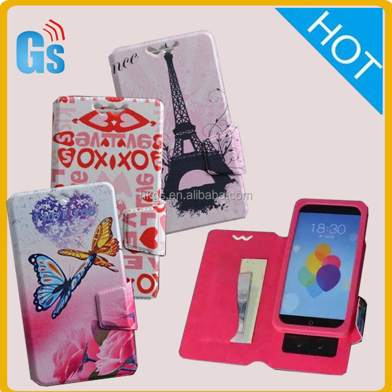 Universal Window View Flip PU Leather Stand Function Cover Phone Case For Gigaset Mobile