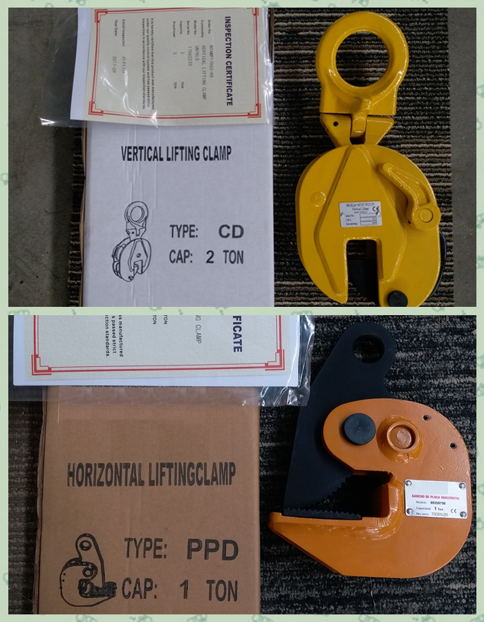 500kg to 3000kg stainless steel pipe vertical lifting clamp