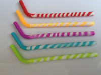 New Design Crazy Silicone Drinking Straw Glasses Straw
