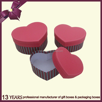 Beautiful Heart Shape Paper Gift Packing Box With Lid