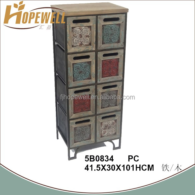 Wholesale rustic wood hobby lobby drawer cabinet