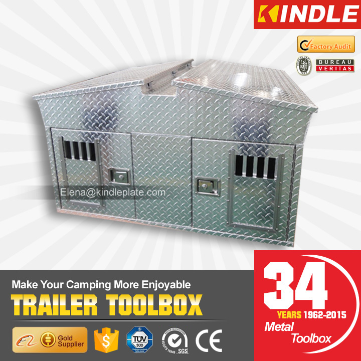 America Hot Style Metal Aluminum Large Dog Cage Custom Design Outdoor Trailer Pet House
