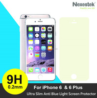 2016 New Product Anti Blue Light + 9H Tempered Glass Screen Protector