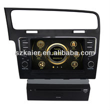 car dvd player for VW golf 7 with 3G - ipod list - radio - gps - BT phonebook - wifi - iphone - navigation - mp5