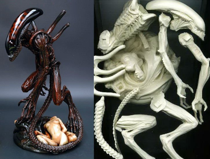 Alien4 on Clone Base FEWTURE MODEL 1/6 Scale Resin Kit