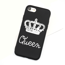 Wholesale King Queen Crown Soft Silicone TPU Phone case For iPhone