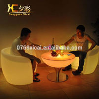 Plasitc Hight Bar Table Club LED Furniture Home Holiday Decorative Cocktail Tables
