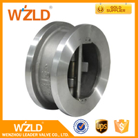WZLD DN50 PN16 Made In China High Pressure Dual Disc Wafer Check Valve Price 6 Inch