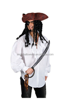 Charming Fashionable Jack Captain Caribbean Carnival Pirate Cosplay Halloween Costume AGM4163