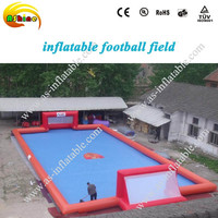 CE Fun new air tight water football game inflatable soap soccer field