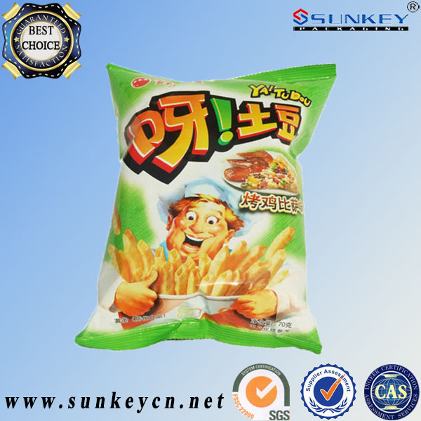 potato chips snack food packaging