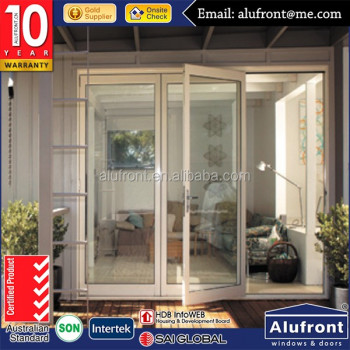 AS2047 aluminum double glazed lowes french doors exterior in whole sale