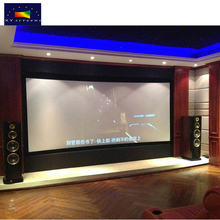 "Guangzhou projection screen factory OEM/ODM 80""~200"" 3D/4K home theater projector screen,fixed curved FRAME PROJECTION screen"