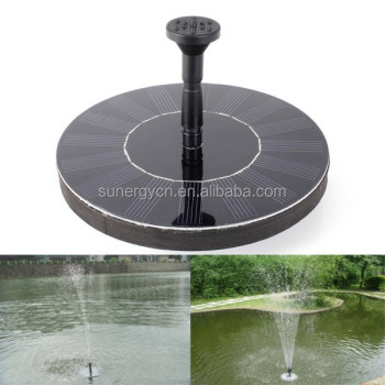 SUNERGY MINI Portable solar powered fountain floating on the water