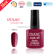 Oulac factory wholesale best price led/uv nail gel polish