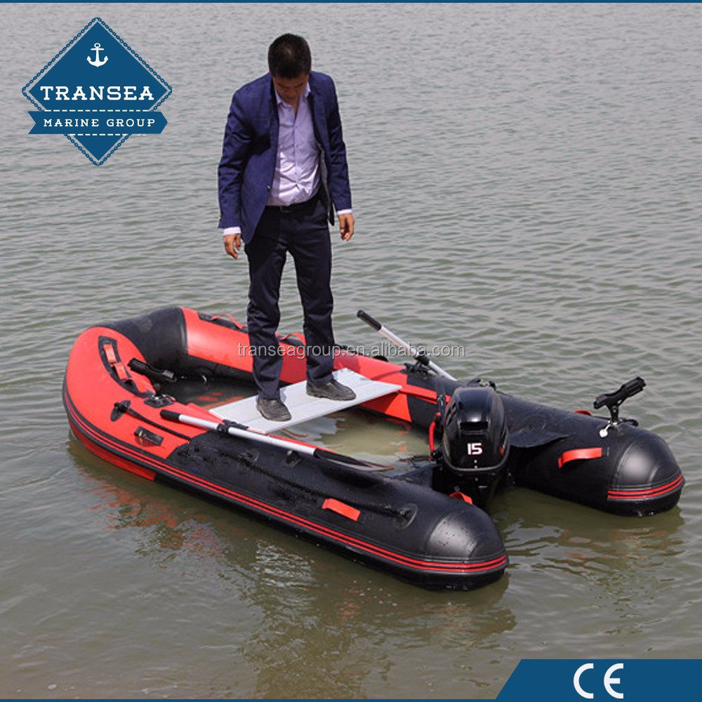 CE approval 3 person pvc inflatable dinghy boat with aluminum floor