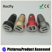 Newest 5v 3.1A mini 2 usb car charger for Sumsang, HTC and smart phones