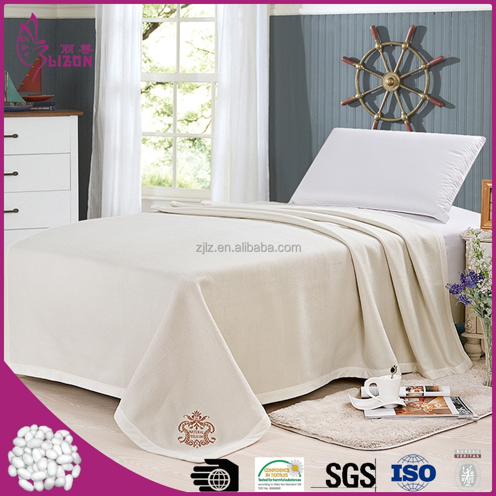 Top quality factory wholeslae 100% natural silk wool blanket