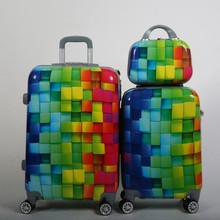 hot sales 3 Pcs Luggage Travel Set Bag ABS+PC Trolley Carry On Suitcase