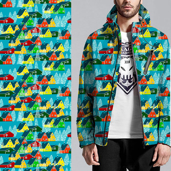 Custom textile flannel air layer printed jacket garment digital fabric printing