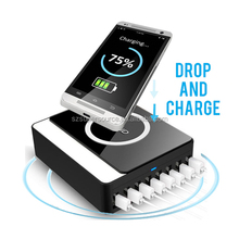 5V 12A 8 port smart usb wireless mobile phone battery charger for iphone 6 samsung galaxy s6 mobile accessory